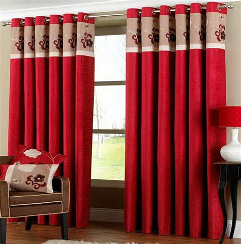 red curtains for living room red curtain with ornament embroidery for living room red