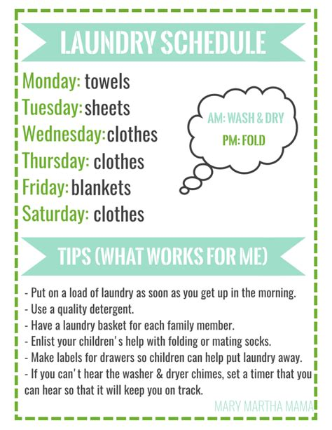 printable laundry schedule how to conquer the laundry pile with a free printable