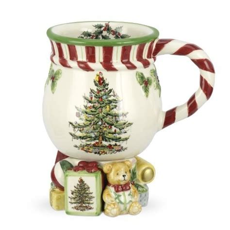 spode christmas tree candy cane handle mugs spode tree peppermint footed mug 14 ounce by portmeirion usa http www