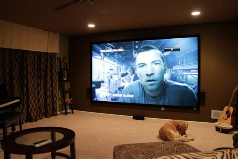light controlled home theater with 135 quot screen