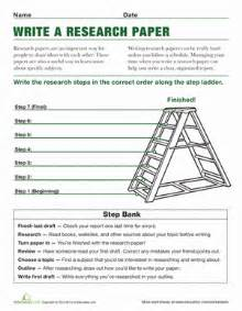 Steps In Research Paper Writing Steps To Writing A Research Paper Worksheet Education Com