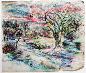 tim west untitled landscape bright colors composed with