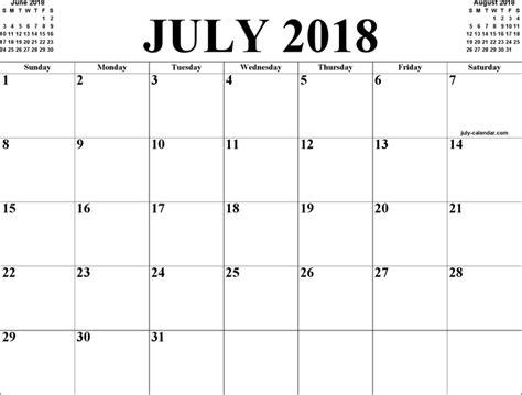 Calendar 2018 June July The July 2018 Calendar 2 Can Help You Make A Professional