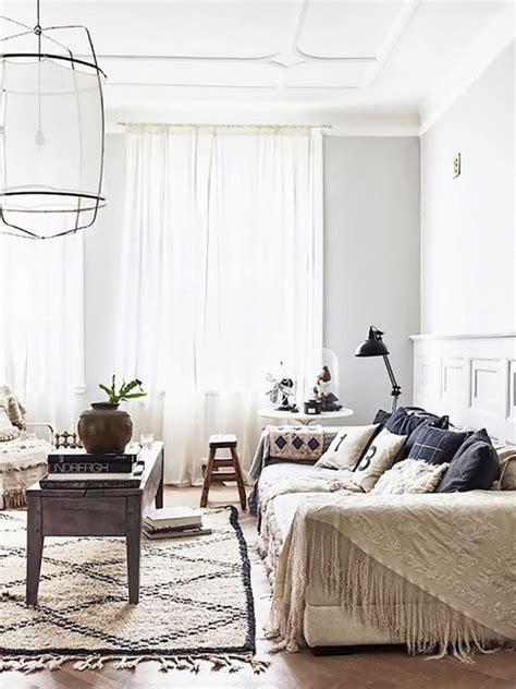 scandinavian bohemian living room ideas