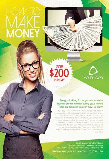 Make Money Invitation Flyer By Elegantflyer Money Flyer Template