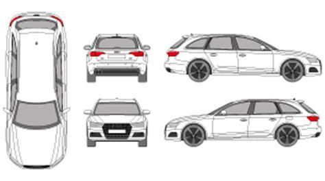 Audi A4 Avant Breite by Mr Clipart