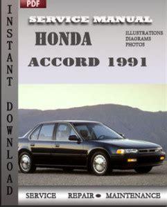honda accord 1991 service manual download repair service manual pdf