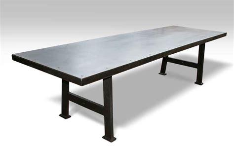 metal table top industrial steel top table olde things