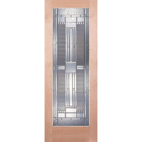 24 X 80 Interior Door Feather River Doors 24 In X 80 In 1 Lite Unfinished Maple Zinc Woodgrain Interior Door