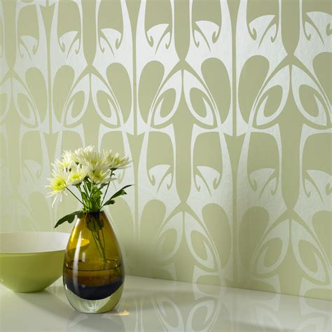 wallpaper green and brown wallpaper wednesday hula by barbara hulanicki at graham