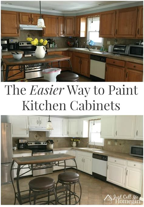 easiest way to paint kitchen cabinets the easier way to paint kitchen cabinets just call me