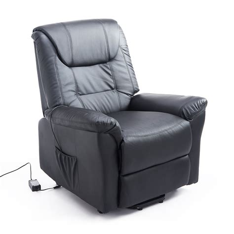 power recliner with remote homcom lift chair power recliner electric leather assist