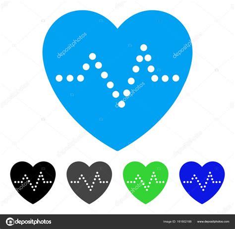 flat design icon heart heart pulse flat icon stock vector 169 ahasoft 161602188