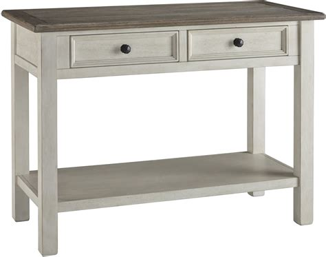 grey sofa table bolanburg antique white weathered gray sofa table from