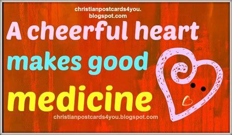 christian card  cheerful heart  good medicine christian cards