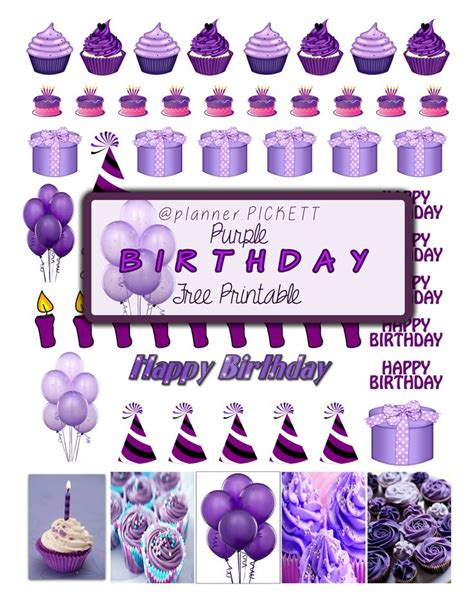 printable stickers for birthday 1000 images about happy planner on pinterest happy