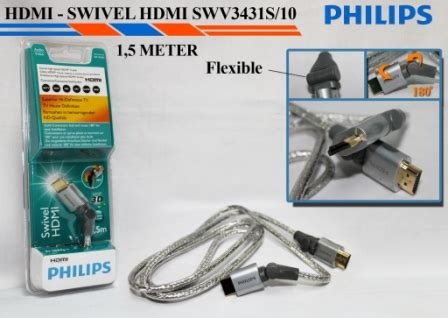 Philips Swv3431s Hdmi Cable 1 M High Speed philips swivel 180 degree high spee end 11 12 2016 5 15 pm