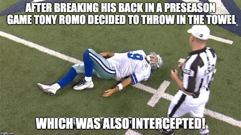 Tony Romo Interception Meme - cowboys imgflip