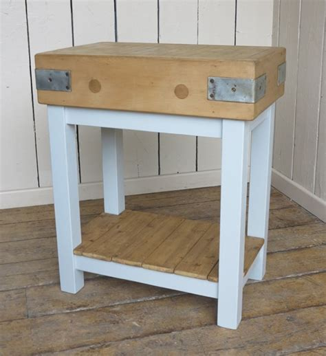 painted butchers block antique painted wooden butchers block with shelf
