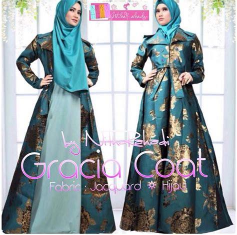 Butik Baju Pesta Muslim Coat Pesta Seragam Keluarga Gracia Coat Jacquad Made By