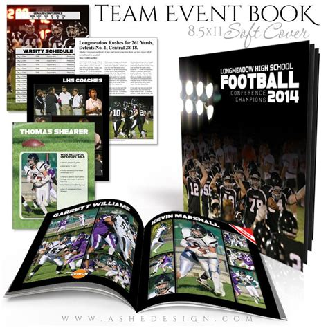 event design books 8 5x11 soft cover event book simply sports yearbook