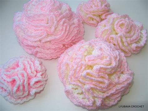01a7ccr Scarf Carnations Stitching Pink knit or crochet the january flower of the month carnation