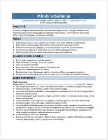 flight attendant resume free layout format