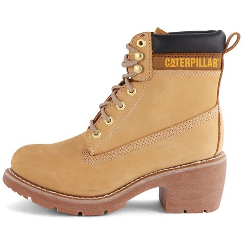 caterpillar ottawa womens leather honey ankle boots new