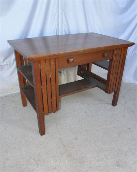 Antique Library Table Desk by Antique Mission Oak Library Table Small Desk With