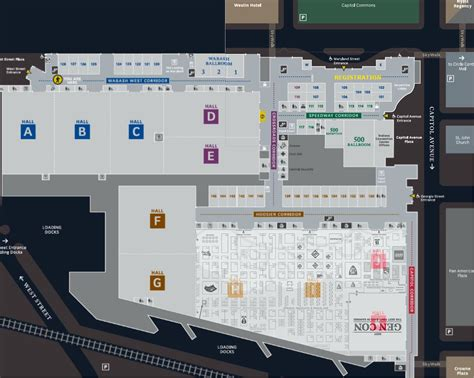 indiana convention center floor plan convention center map gen con community