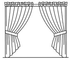 curtain drawing coloring pages how to draw window with curtain sketch coloring page