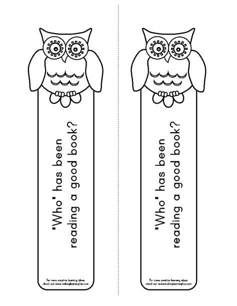 printable owl bookmarks learning printables for children
