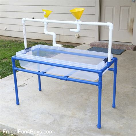 Water Tables by How To Build A Pvc Pipe Sand And Water Table Frugal For Boys And