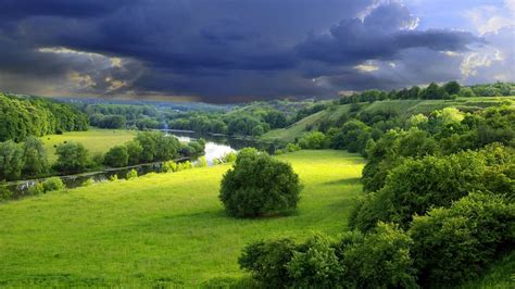 Landscape Image Definition Green Landscape Wallpaper 1366 768 Is High Definition