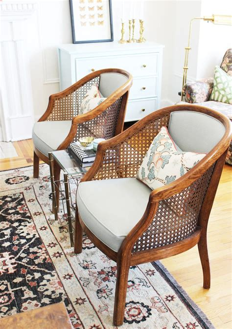 home   month  chic toronto apartment  dorm chair makeover cane furniture accent