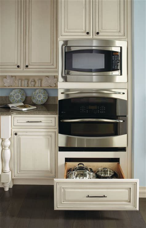 Masterbrand Kitchen Cabinets by Kemper Double Oven Cabinet Traditional Kitchen Other
