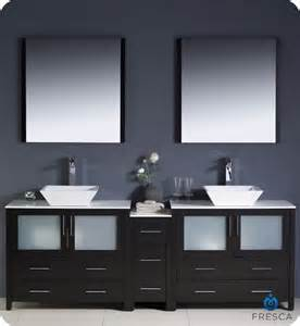 Drop In Soaker Bathtubs 84 Quot Fresca Torino Fvn62 361236es Vsl Modern Double Sink