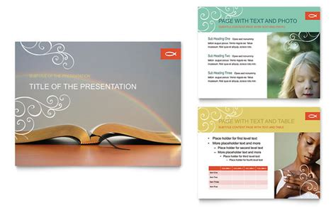 free church brochure templates christian church religious powerpoint presentation