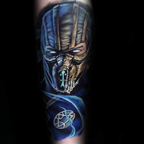 sub zero tattoo 70 mortal kombat tattoos for gaming ink design ideas