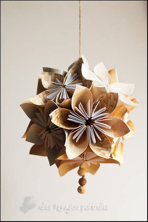 hanging origami flowers tutorial for origami kusudama paper flower craft