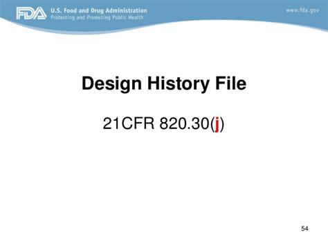 definition design history file design control fda requirements