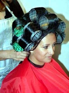 www women in iron rollerset and hairnet com hair net certainly helps roller sets pinterest