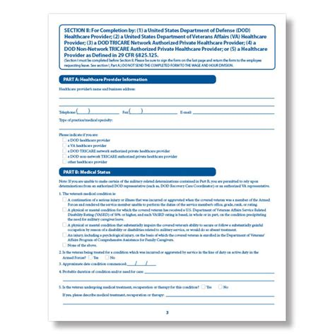 printable fmla poster fmla veteran certification form injury illness