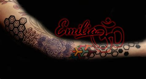 colorful geometric tattoo balinese tattoo miami