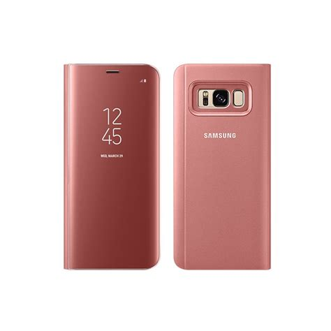 View Stending S8plus samsung original clear view standing cover samsung galaxy s8 plus pink daftar update harga