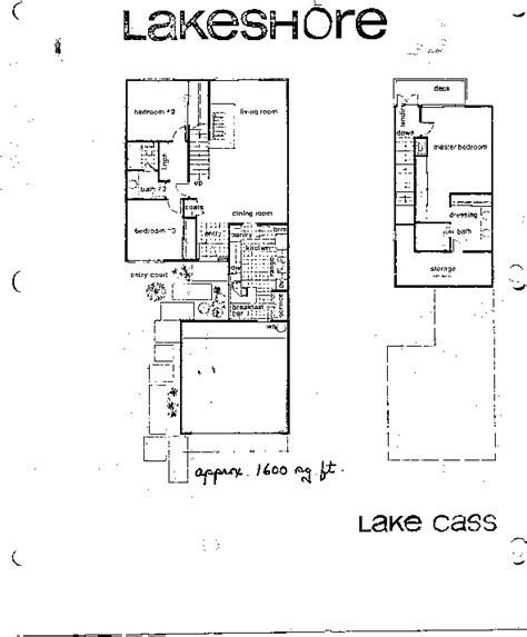 Lakeshore Floor Plan | lakeshore floor plans