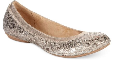 bandolino shoes flats bandolino edition ballet flats in gold bronze leopard lyst