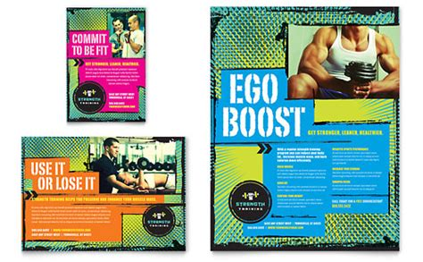 templates for personal training flyers personal training flyer templates sports fitness