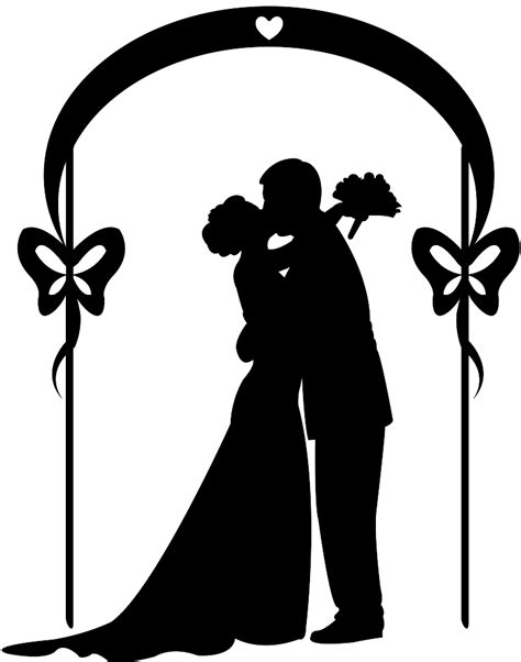 Bridal Party Silhouette Free Vector Silhouettes Wedding Silhouette Template
