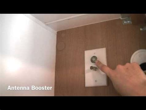 rv tv booster switch how to set up a roof mounted tv antenna on a jayco rv